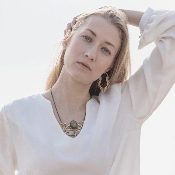 Blusa blanca mujer ecológica