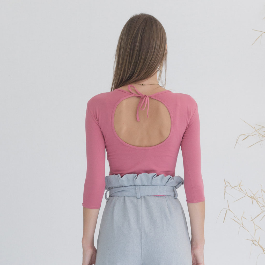 Body rosa ecológico