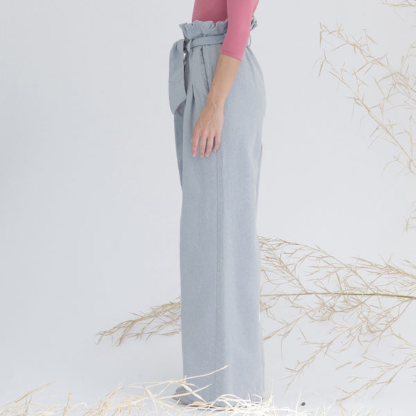 Women's sustainable denim trousers