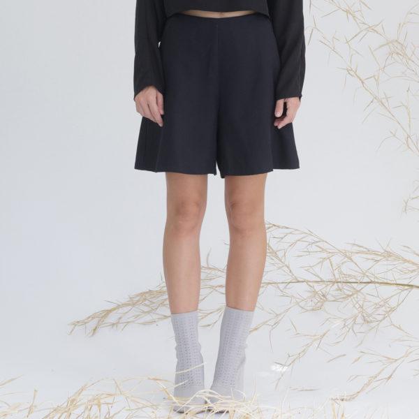 Women's organic black short