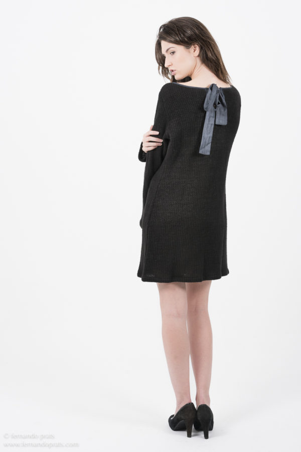 Black hemp dress Miu Sutin