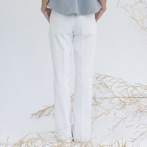 Organic cotton white trousers